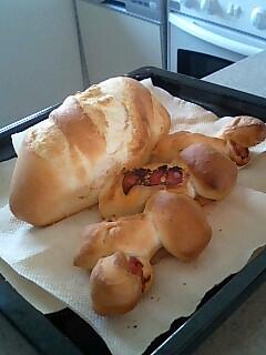 男の手作りパン